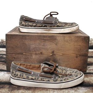 🎀3/$30 Sperry Leopard Print Boat Shoes Size 7M